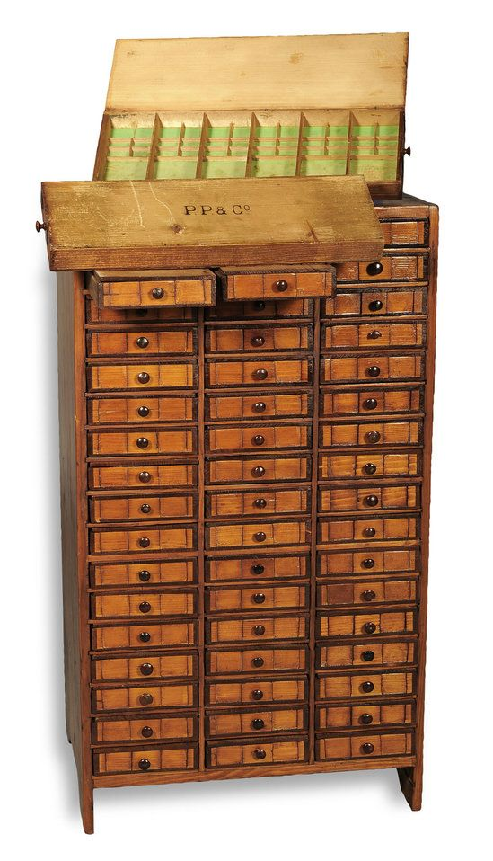 I love this! An original watchmakers chest from the late 1800's that was once used by Patek Philippe. The exquisite tool cabinet is all set to go under the hammer at the Antiquorum Geneva sale. Made of real wood, this beautiful chest boasts of 51 individual drawers each with a hinged top. Standing tall on stile feet, this chest is also flat sided. A piece that depicts Patek Philippe's taste for luxury and craftsmanship, it is one-of-a-kind.