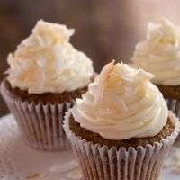 Paula Deens The Best Ever Carrot Cake Cupcakes Recipe. I bake this recipe in a bundt cake pan. I also changed the frosting -less sugar and add the left over pineapple form the cake. Yummy.