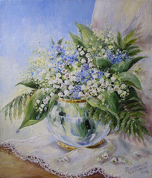 Картины - Цветы - Ландыши (Холст, масло)