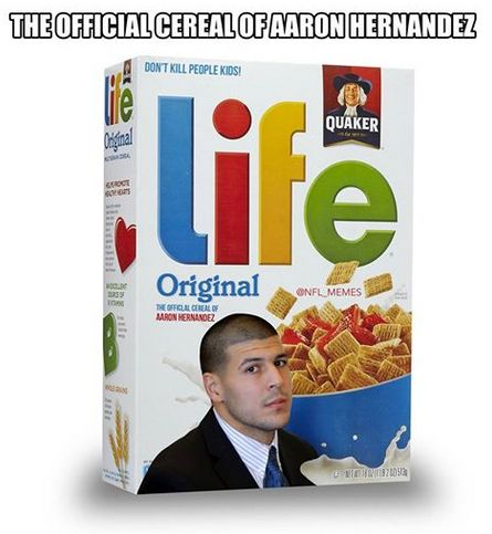 The Official Cereal of Aaron Hernandez
