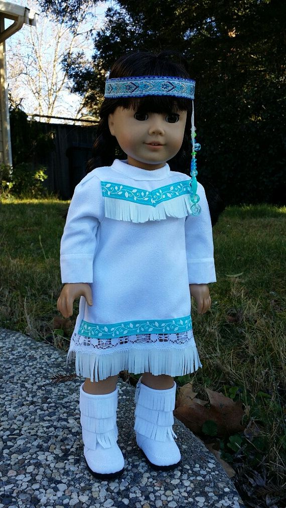 american girl doll clothes/ indian girl costume by PaulasArtStore