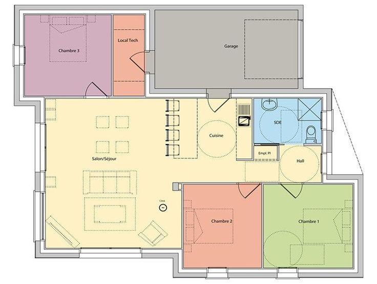 Les 25 meilleures id es de la cat gorie plan maison plein for Plan maison creole traditionnelle