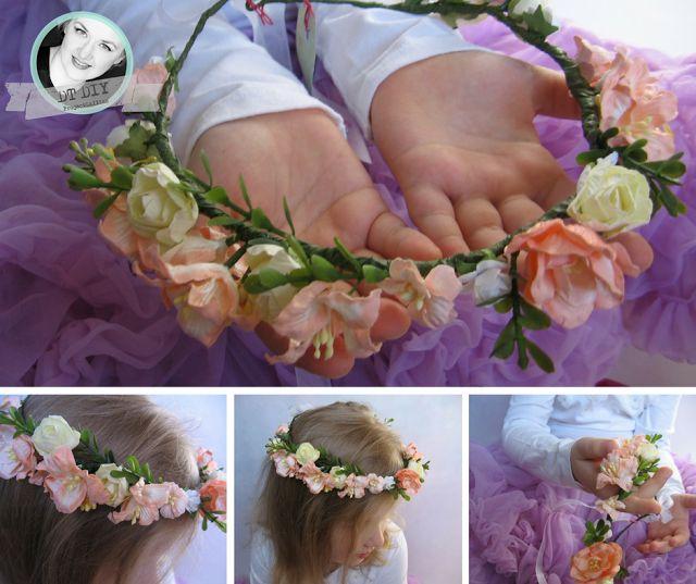 ProjectGallias dla DIY. Kwiatowy wianuszek na głowę. Inspiracja do wyzwania #17 wiosenny moodboard. Flower crown.