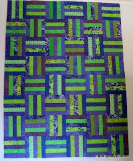 2 inch strips - 5 per block  http://www.sewwequilt.com/2011/01/humble-rail-fence-quilt.html