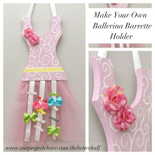 Ballerina Barrette holder - detailed tutorial! so cute and a great gift idea! #DIY #crafts #the better half