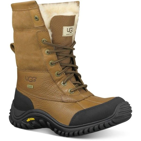 Ugg Adirondack Ii Cold Weather Boots ($225) ❤ liked on Polyvore featuring shoes, boots, otter, ugg footwear, wool shoes, ugg shoes, ugg boots and water proof boots