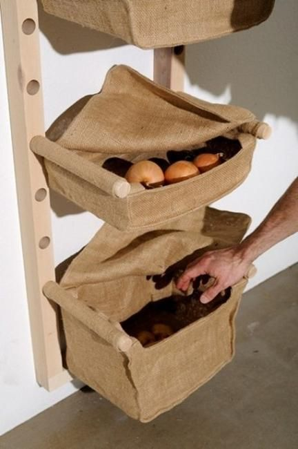 The 25 best onion storage ideas on pinterest kitchen space savers stair basket and asian - Home decor solutions ideas ...