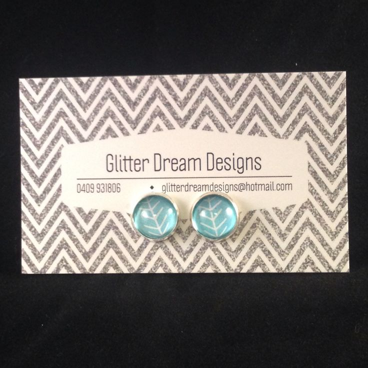 Order Code B4 Blue Cabochon Earrings