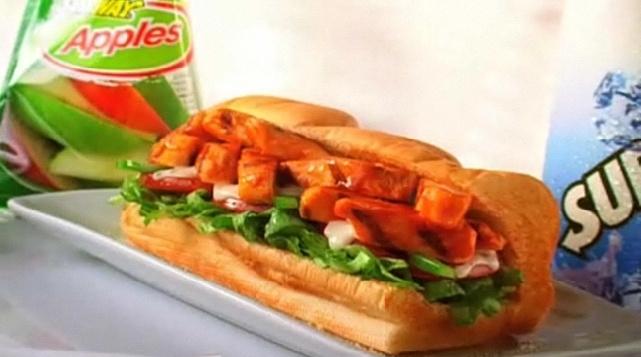 Subway Buffalo Chicken = Heaven. I need you right now!!