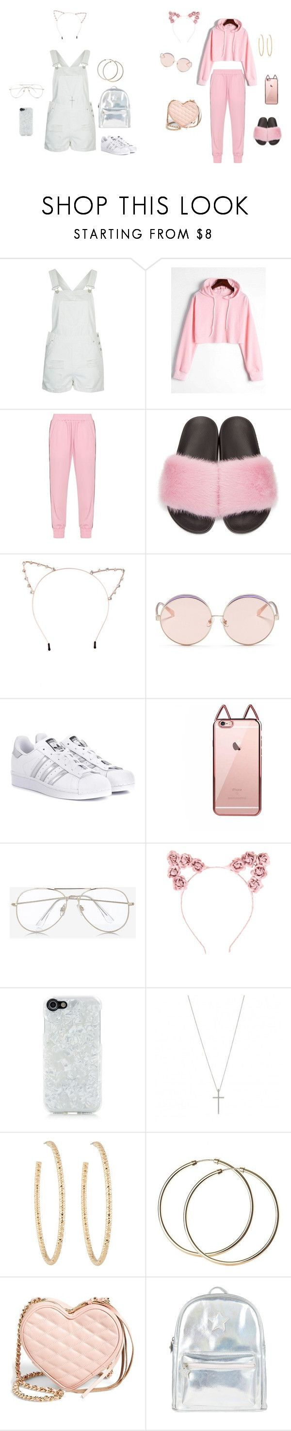 """school outfit and mall outfit"" by bhadbitch15 on Polyvore featuring Topshop, Mother of Pearl, Givenchy, Cara, N°21, adidas Originals, Express, Hot Topic, Candywirez and Berry"