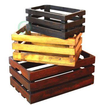 Quickway Imports Decorative Crate (Set of 3)  – вторая жизнь