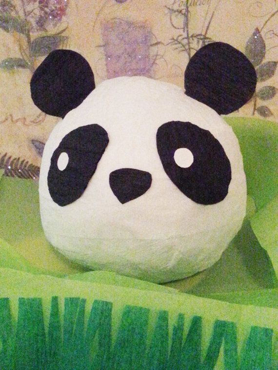 Panda Bear Surprise Gift Ball by WithJustWords on Etsy