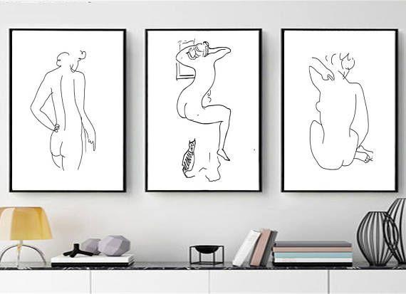 Set of 3 Matisse Prints Figure Drawing Nudity Art Matisse Art