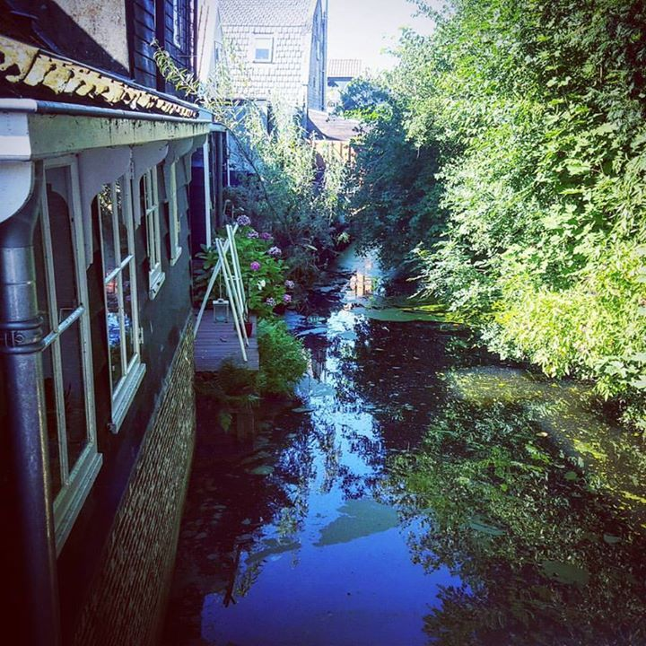 Small lake in front of an #house in Edam in the #Netherlands  www.frarina.com  #beautiful #insta #instago #instatravel #travelgram #architecture #nature #water #trees #followme Hello there! I am Frank Cozzolino and with my beautiful girlfriend Marina we l