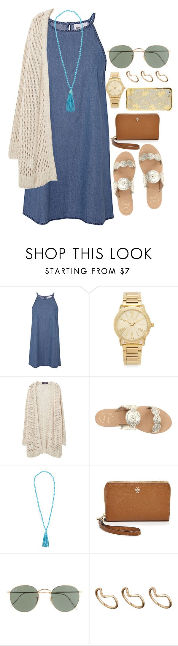 """Today was my last first day of school"" by jordanawarren ❤ liked on Polyvore featuring Olive + Oak, Michael Kors, Violeta by Mango, Jack Rogers, Kenneth Jay Lane, Tory Burch, J.Crew and ASOS"