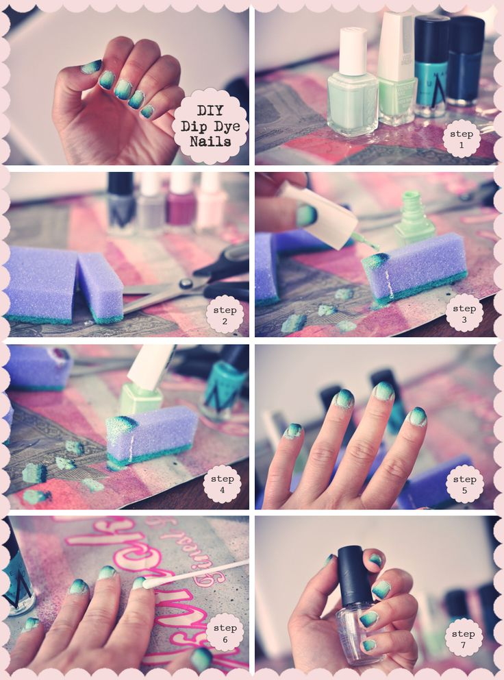 DIY Guide to pretty Dip Dye/Ombre Nails  Emily Salomon | Bloggers Delight
