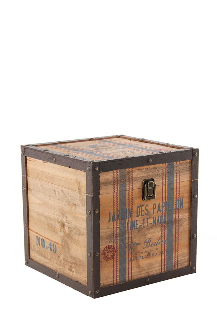 Industrial Papillon Wooden Box, Large| Mrphome Online Shopping