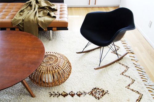 Love The Mix Of Textures Amp Materials Moroccan Rug Cane