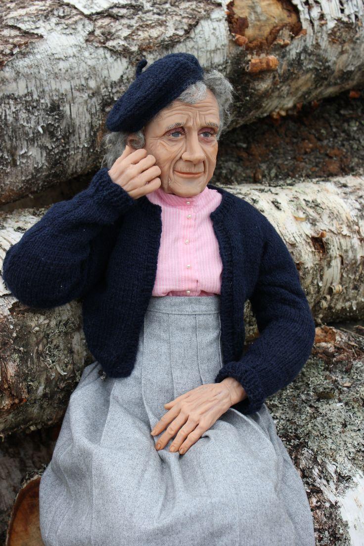 Astrid Lindgren, swedish author who wrote Pippi Longstocking, by Marit Wallenberg www.maritwallenberg.se