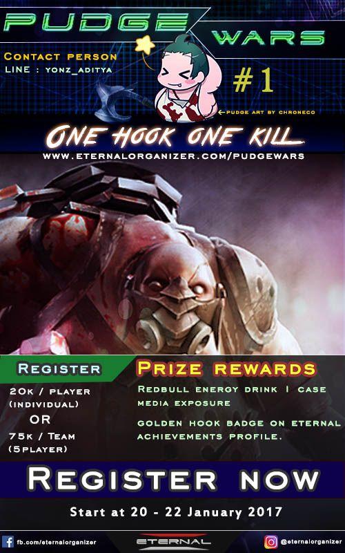 Turnamen Pudge War dari Eternal Gaming EO Buat Kalian Gamer DOTA2 yang Suka Tantangan