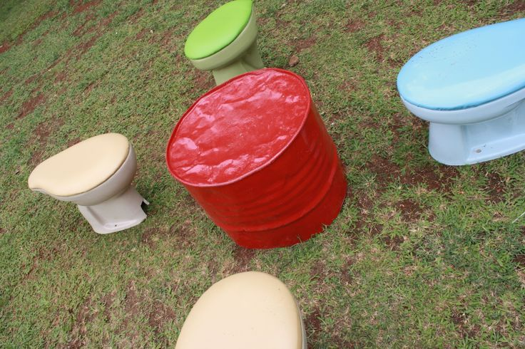Sit and relax on your own (used) toilet. #Jakarta #Indonesia