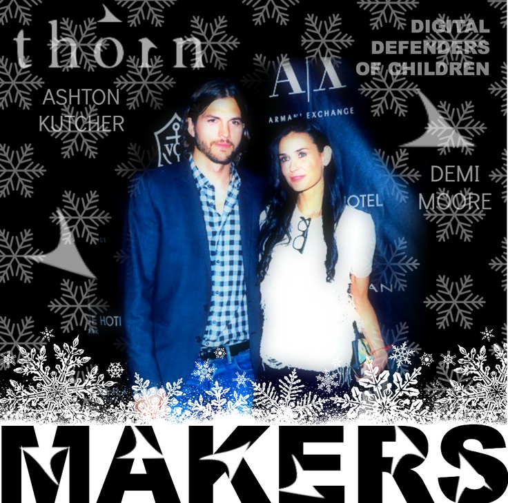 Flawless Demi Moore & Ashton Kutcher are MAKERS http://www.makers.com/ of THORN http://www.extratv.com/2012/11/15/ashton-kutcher-and-demi-moores-dna-foundation-renamed/ org vs Children Sex Slavery HumanTrafficking