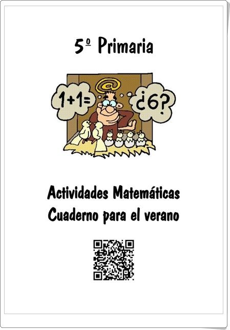 Cuaderno de Verano de Matemáticas de 5º de Primaria (Colegio José Calderón, Málaga)