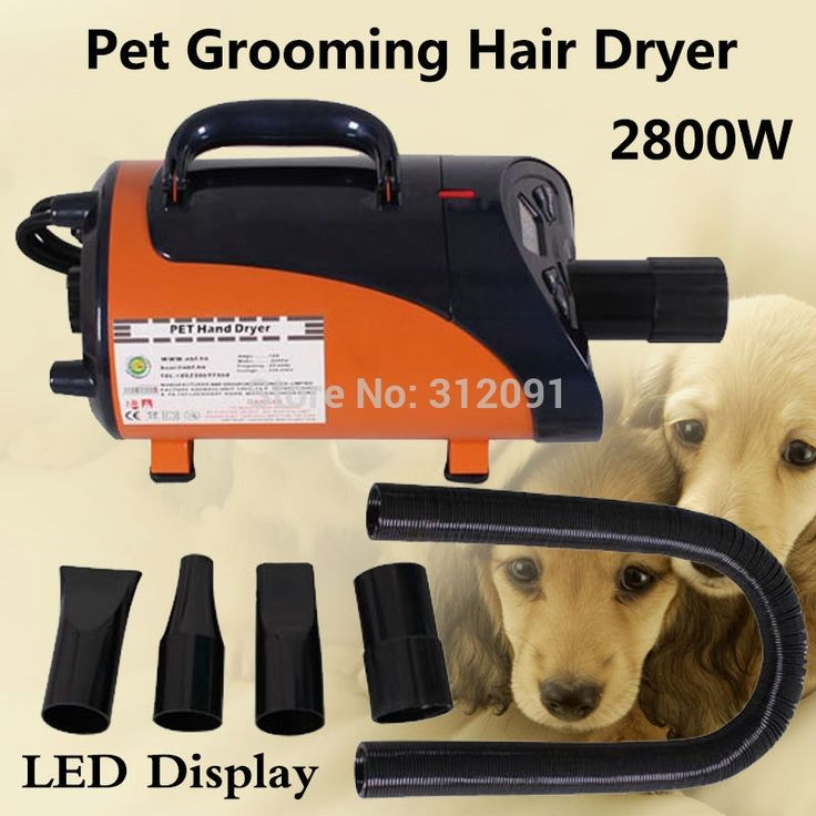 119.99$  Watch now - http://ali9pb.worldwells.pw/go.php?t=1794430157 - (Ship from EU) 2800W High Power Pet Hair Dryer Blower Dog Pet Grooming Dryer Blower Heater, Pet Grooming Trockner+ 3 Nozzles
