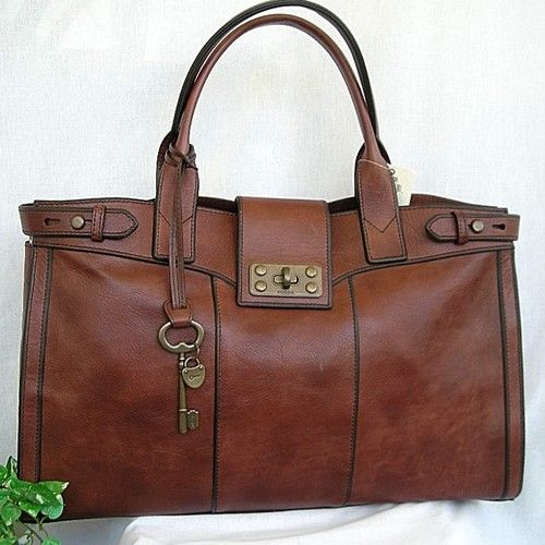 Nwt Fossil Vintage Reissue Brown Leather Weekender Book Bag My Style Pinterest Bags And Purses