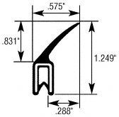 "CRL Vertical Fin Trim Seal - Flange Size: .079 in to .099 in by CRL. $104.75. C.R. LAURENCE 75001612 CRL Vertical Fin Trim Seal - Flange Size: .079"" to .099"". CRL Trim Sealr is a flexible, decorative edge trim that attaches to an edge without glue or clips. CRL Trim Sealr is made of a neoprene closed cell sponge seal which is attached to a black leather grain vinyl trim with a segmented steel core. These flexible parts push onto a metal flange to trim the interior and seal t..."