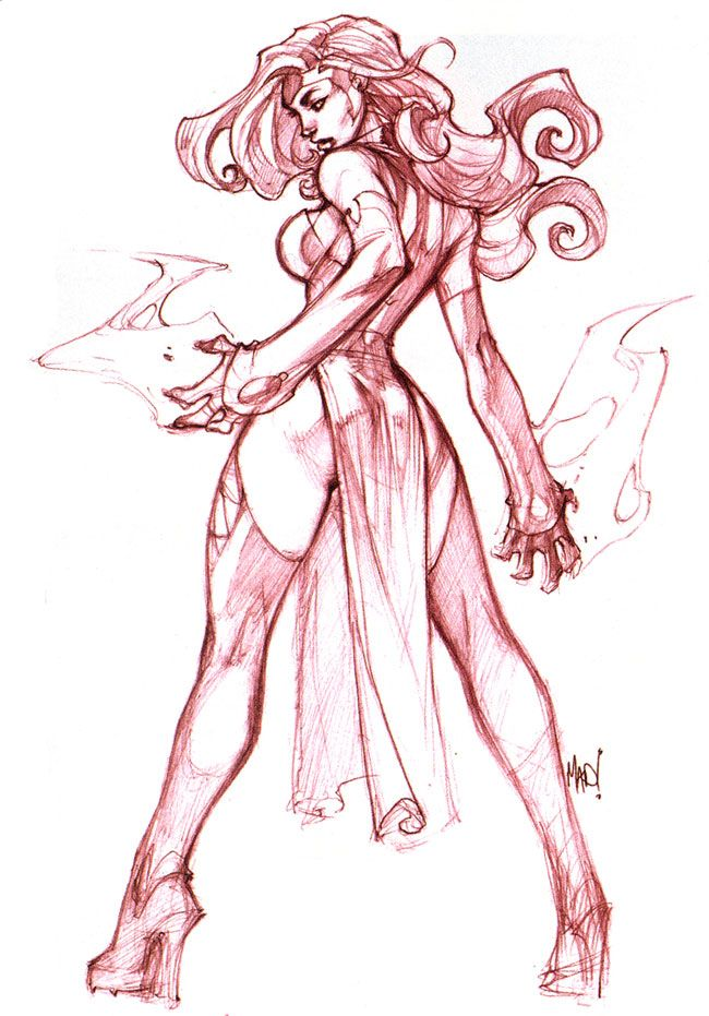 Jean Grey by Joe Madureira, yup- I pinned this to be my character image for the DC heroes game. I am that dorky.