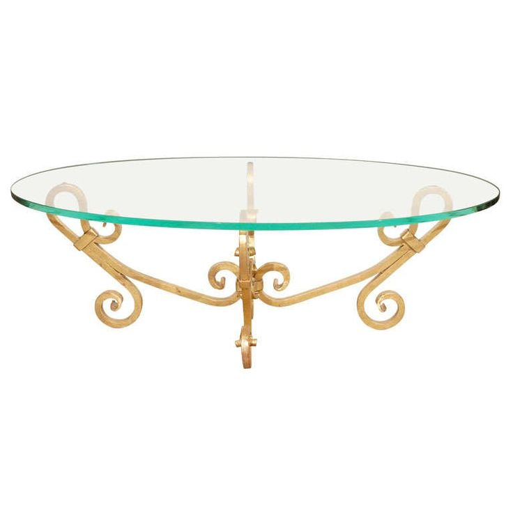Elegant Oval Glass Coffee Table Venetian Style