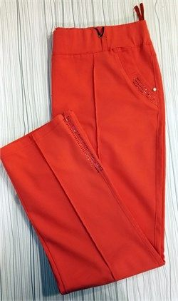 Büyük Beden Likralı Kırmızı Pantolon
