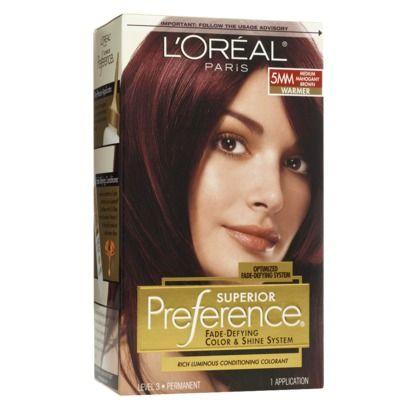 Mahogany Hair Color By Loreal
