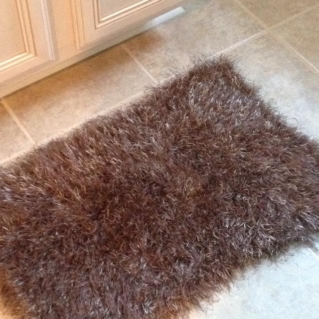Fun Fur Bathroom Rugs (knit) CO 36 (double Strands) K Each