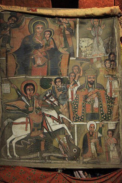 Ethiopian Christian Art Ethiopian Saint George Slaying
