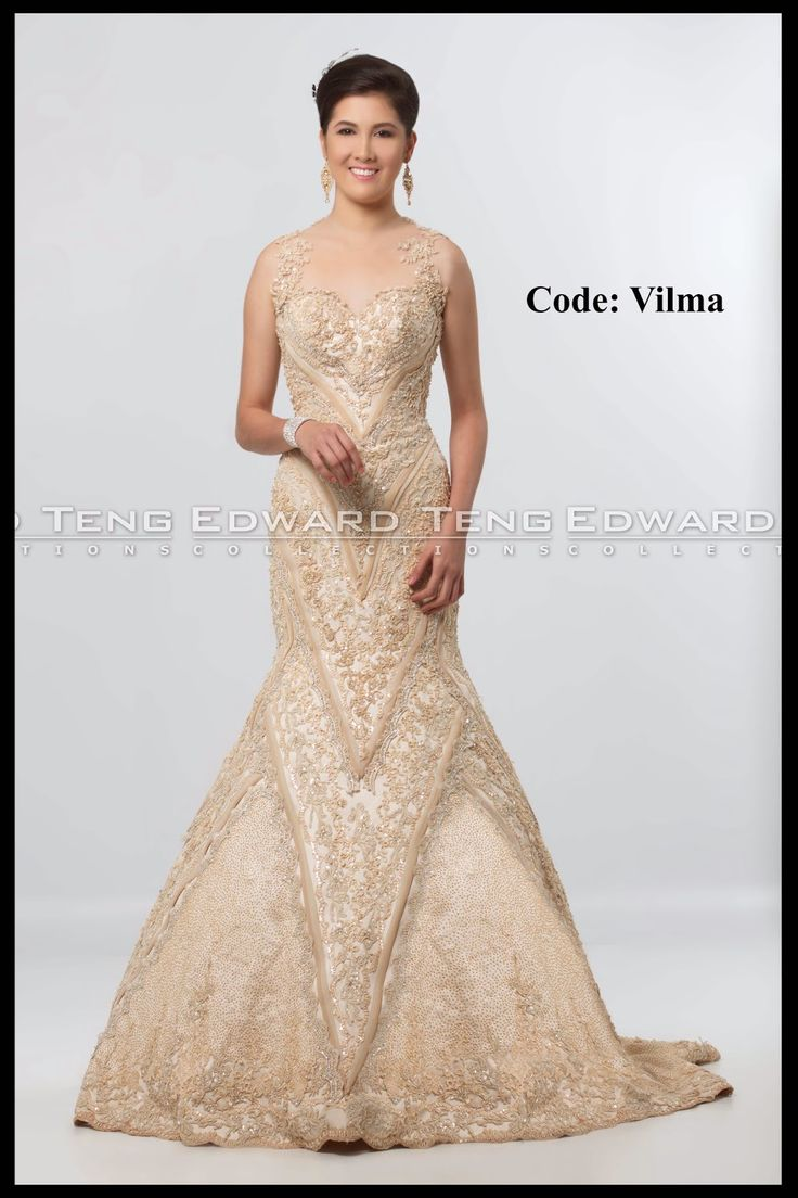 Edward Teng Gown DesignerBridal GownsPhilippinesChampagneWedding Dresses Wedding FrocksBridesmade DressesWedding DresssesBridal