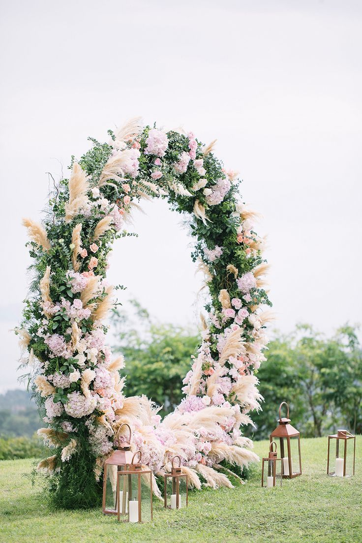 Circular Floral Arches Why Your Wedding Ceremony Needs This New