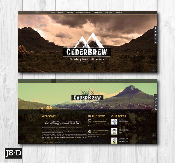 Website Designed for Ceder Brew