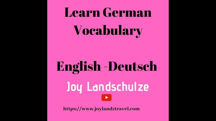 German vocabulary list | Learn german words | German language learning |English – Deutsch