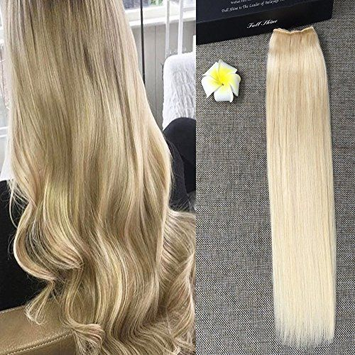 Full Shine 16 Inch Width 11 Flip On Hair Extensions One Piece 80g Halo Real