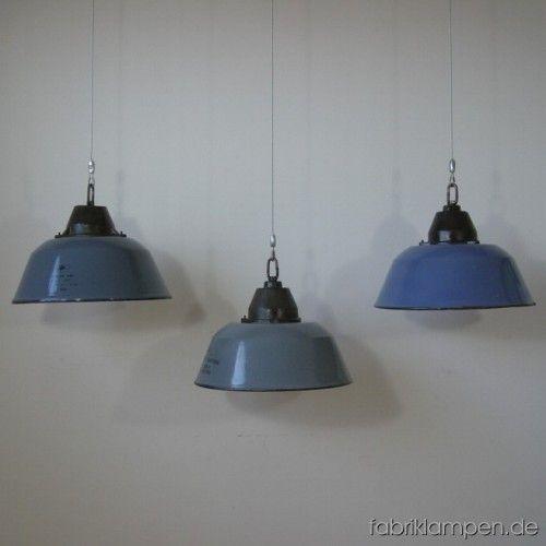 3 st ck emaille lampen fabriklampen lampen pinterest