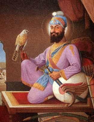 Guru Hargobind, the sixth guru, son of Arjan Dev and grandson of Ram Das.  A master martial artist and avid hunter.