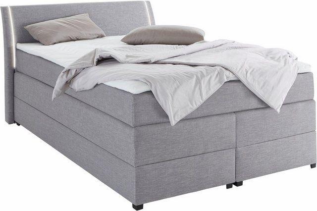 Boxspringbett Mit Bettkasten Und Led Beleuchtung Home Decor Furniture Mattress