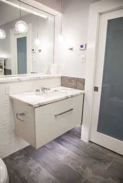Harbour Front condo Reno Project. Floating vanity with LED lighting