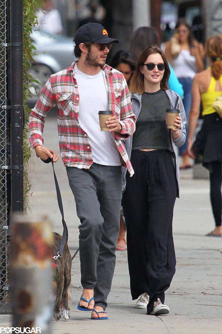Adam Brody And Leighton Meester Bring Their Dogs Along On