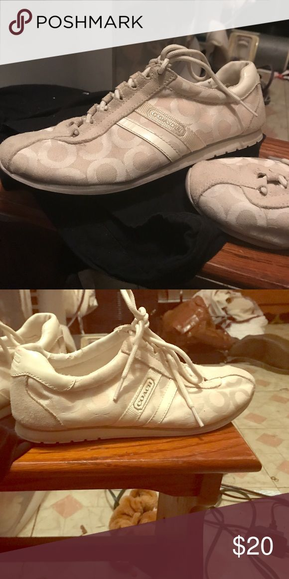 Coach Tennis shoes White and cream colored coach tennis shoes Coach Shoes Sneakers