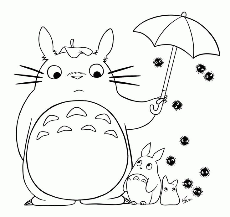 Totoro Coloring - Coloring Pages for Kids and for Adults ...