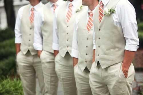 Rustic Country Wedding Ideas: The Groomsmen Attire - lets go casual