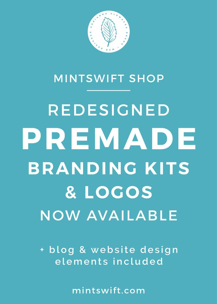 MintSwift Shop has been open for almost 1,5 years now. I'm blown away by the response and I'm so grateful for all my amazing customers for premade branding kits, premade logos and add-ons. I'm happy that my premade designs helped so many creative entrepreneurs to launch or up level their blog and website! For the past 2 weeks, I've been working on changes in the Shop and today, I'll share why I redesigned premade branding kits & logos. You'll learn about exciting update to branding kits w...